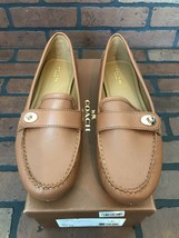 Coach Loafers Flash Pebble Grain Leather Brown Size 10 - $105.32
