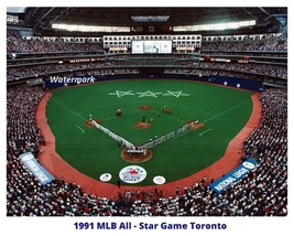 1991 All Star Game Toronto Ontario Skydome Blue Jays Color 8 X 10 Photo Picture - $8.99