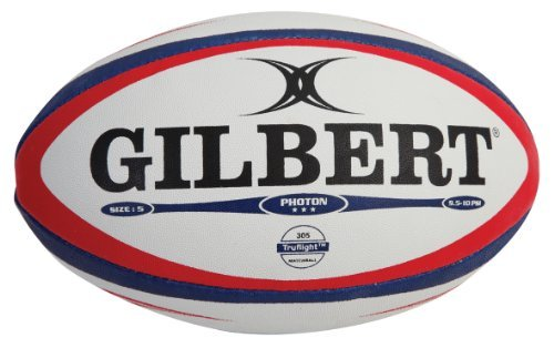 Gilbert Photon Match Rugby Ball (Navy/Scarlet, Size-4) (4)