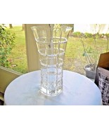 "Laura Glass Marquis 10"" Clear Contemporary Flower Vase - $20.79"