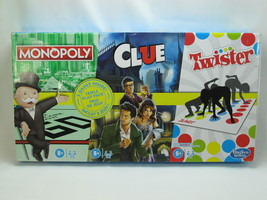 Monopoly Clue And Twister 3 In 1 Games Hasbro 2020 Bilingual New Open Box - $49.19