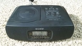 Sony AM/FM LCD Dual Alarm Clock Radio Stereo CD... - $28.04
