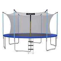 Asee'm Trampoline Combo Bounce Jump Safety Enclosure Net W/ Spring Pad L... - $328.59