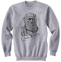 CHARLES DARWIN 2 - NEW COTTON GREY SWEATSHIRT- ALL SIZES - $34.33