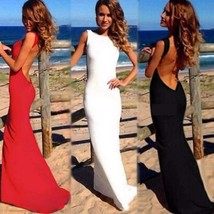 Sexy Backless Maxi Dress - $32.98