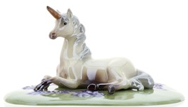 Hagen-Renaker Specialties Ceramic Figurine Unicorn Lying on Base image 2