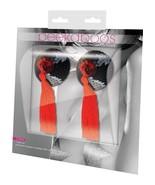 Eye Candy Peekaboo Pasties Black Sequin With Red Tassel Pair PK322 - $14.99