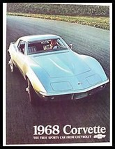 1968 Chevy Corvette Sting Ray ORIGINAL Sales Brochure - $14.83