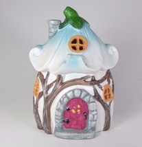 "Blue Leaf Roof Gnome Fairy House LED Lighted 6"" Tall - $21.73"