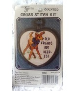 "The New Berlin Mini Counted Cross Stitch Kit 'Old Friends are Dearest"" S... - $16.99"