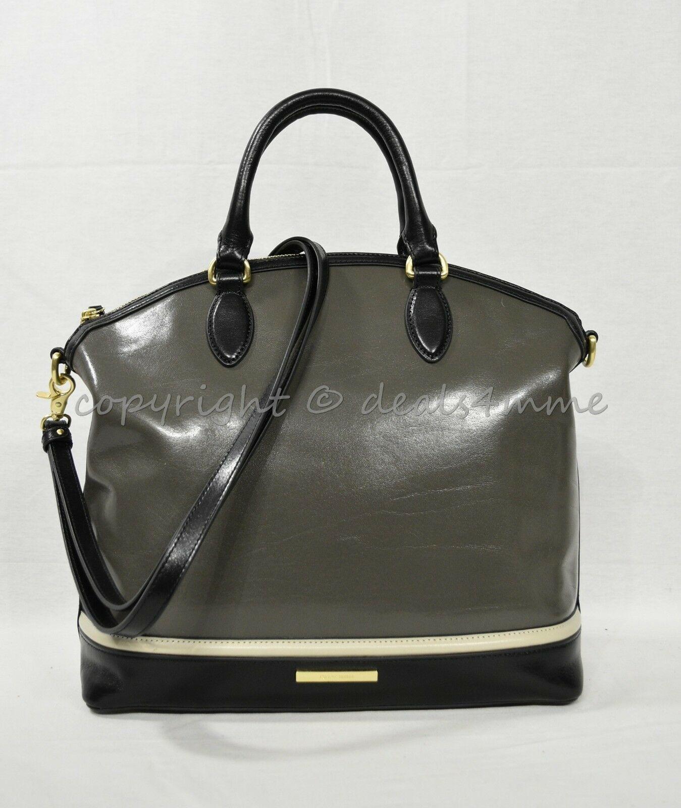 NWD Brahmin Large Duxbury Satchel/Shoulder Bag in Charcoal Westport