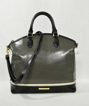 NWD Brahmin Large Duxbury Satchel/Shoulder Bag in Charcoal Westport - $239.00