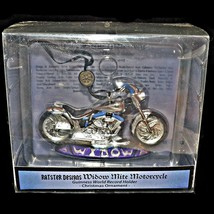 Kurt Adler Ratster Designs Widow Mite Blown Glass Motorcycle Christmas Ornament - $27.99