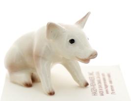 Hagen-Renaker Miniature Ceramic Pig Figurine White Mama Sitting image 4