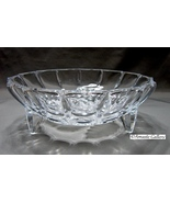 Crystal  Cut Glass  Frosted Rose Footed Candy Dish~Stunning - $12.99