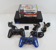 Playstation 2 PS2 SCPH-50001 Console System W/ 2 Controllers & 6 Games T... - $79.99