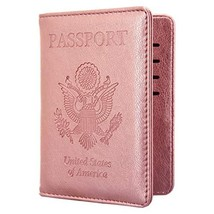 Kandouren RFID Blocking Passport Holder Cover Case,travel luggage (Rose ... - $13.62