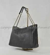 NWT Tory Burch Marion Black Leather Center Zip Tote / Shoulder Bag - $425.00
