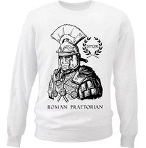 Roman Praetorian - New White Cotton Sweatshirt - $33.99