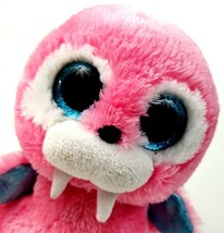 Ty Beanie Boo Boos Tusk Pink Walrus 6 Inch 2015 Sparkle Eye - $8.42