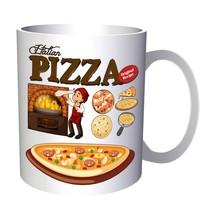 Chef making pizza oven illustration 11oz Mug g814 - $10.83