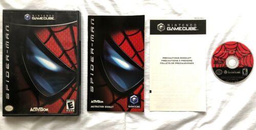 ☆ Spider-Man (Nintendo Gamecube 2002) COMPLETE in Case Black Label Game Works ☆