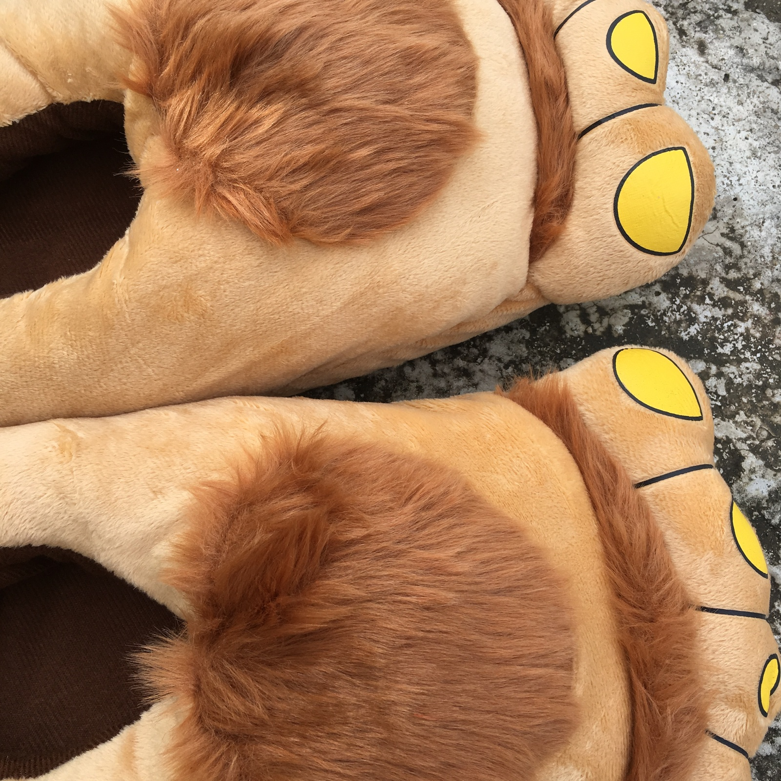5f7fdf2c4fc55 Men Women Hairy Hobbit Feet Big Funny Poop Emoji Home Slippers Christmas  Gifts