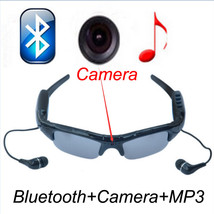 Sunglasses Bluetooth Camera Support TF Card Video Recorder DVR DV mp3 earphone - $119.99