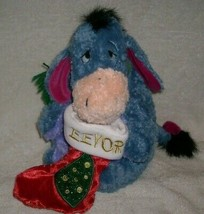 "12 "" Disney Magasin Noël 2001 Eeyore Animal en Peluche Jouet Winnie Ourson Noël - $18.49"
