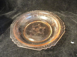 Pink Florentine Depression Glass 8 1/2 Inch Berry Bowl VG Condition - $24.99