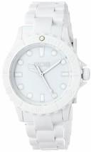 EOS New York Unisex Marksmen Plastik Weiß Quarz Analog Uhr #359SWHT Neu Ovp