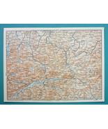 """1905 MAP Baedeker - AUSTRIA Leoben Steyr Sankt Gallen Liezen 6 x 8"""" (15 ... - $6.08"""