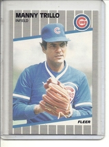 (b-30) 1989 Fleer #440a: Manny Trillo ( Throws Right Error ) - $3.00