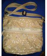 LeSportsac Le SportSac Small Crossbody Shoulder Bag Embroidered Khaki Ta... - $17.00
