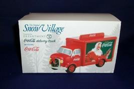 """Dept. 56 Snow Village """"Coca Cola Delivery Truck"""" #4035586  NIB - $23.38"""
