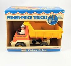 1979 Fisher-Price Toy Dump Truck 328 w/ Husky Helper Figure and Tools w/... - $37.39