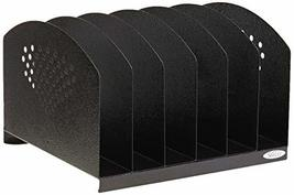 Safco Products 3155BL Steel Desk Organizer Rack with 6 Vertical Sections... - $48.97