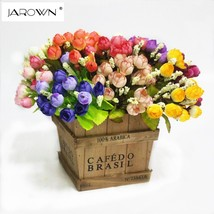Colorful Silk Flowers artificial flower 15 heads Mini Rose Home Decor fo... - $3.40