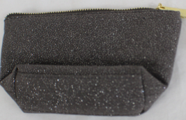 NWT Merona Sparkling Sequin Clutch Makeup Bag Cosmetic Pouch Grey Silver - $5.93