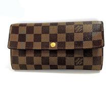 Louis Vuitton Damier PORTEFEUILLES SARAH N61734 Bi-fold wallet Used Very... - $418.60