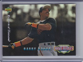 BARRY BONDS 1994 Upper Deck Mantle's Long Shots Electric Diamond #MM3  (... - $4.46