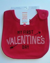 Just One You Carter's My First Valentine's Day Bib Teething Cloth Baby S... - $5.90