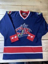 VINTAGE PRO PLAYER NHL COLUMBUS BLUE JACKETS HOCKEY JERSEY SIZE ADULT L ... - $54.95
