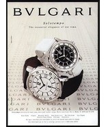 Bulgari Solotempo Watch AD 1997 Advertisement - $14.99