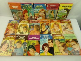 Joyce Dingwell Harlequin Romance Paperback Book lot 17 vintage red edge ... - $37.99