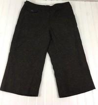 Liz Claiborne Women's Size 8 31x19 Audra Brown Dress Capris Viscose Wool... - $6.13