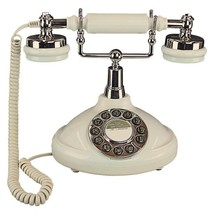 Cream Vintage Telephone Retro Beige Phone Push Button Gift Old Fashioned... - $169.99