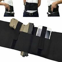 Tactical Left Right Hand Elastic Belly Band Waist Pistol Gun Holster Adj... - $6.78