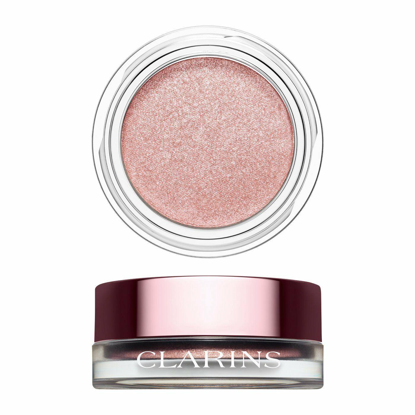 CLARINS Ombre IRIDESCENT CREAM to POWDER Eye Shadow SILVER ROSE Shimmer 09 NIB - $20.92