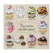 [Cupcakes] DIY Cross-Stitch 14 CT Embroidery Kits Kitchen Decorations(7.... - $20.87